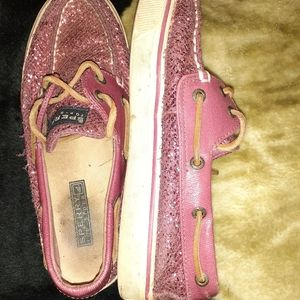 Pink sparkly Sperry